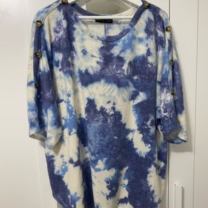 Kim & Cami Pull Over Tie Dye Top